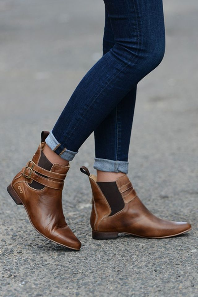 Best 25  Flat booties ideas on Pinterest | Flat ankle boots, Flat ...