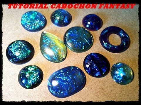 Video tutorial: DIY come creare cabochon in resina con effetto fantasy / fantasy resin cabochon