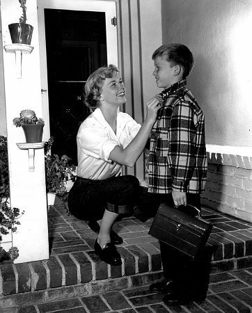 Doris Day and son  Hard to imagine that the little boy was the reason Sharon Tate and her friends were murdered.  He was suppose to be in the house, not Sharon.