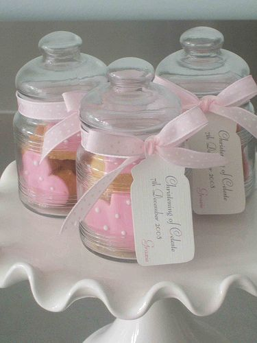 Christening Cookie Favor Jars