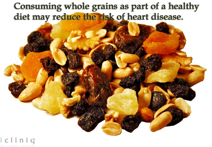 Consuming whole #grains as part of a #healthy diet may reduce d risk of #heart disease. #‎Health #‎query