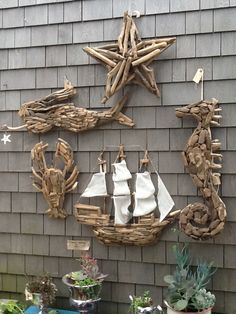 Driftwood art.. A driftwood whale would be great too!