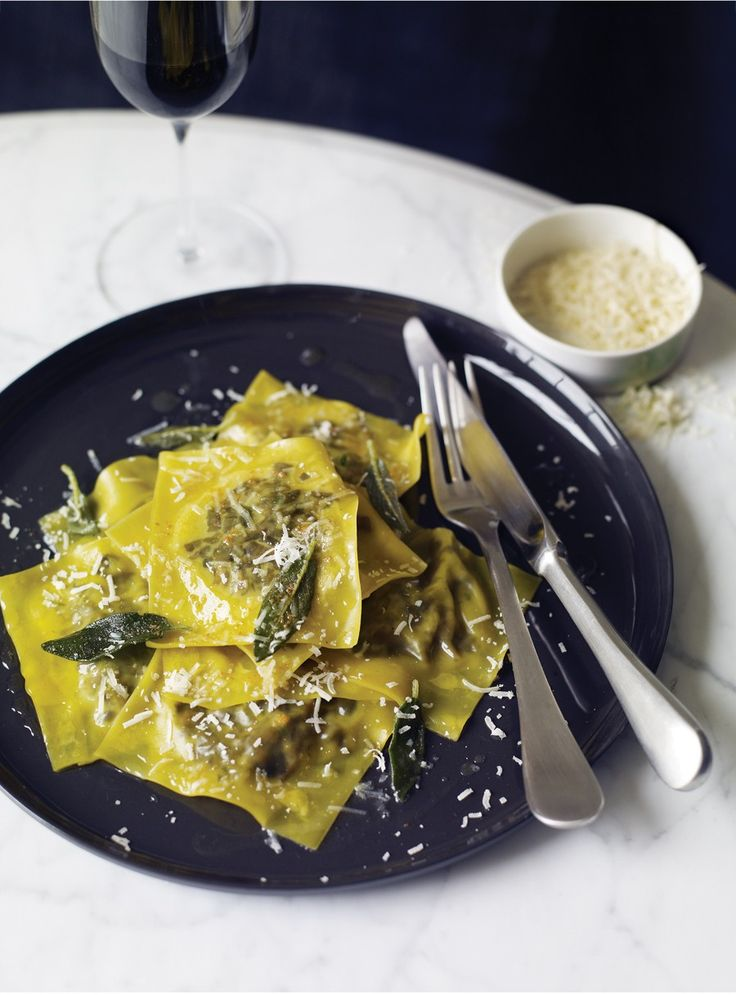 Wild Mushroom Ravioli in Sage and Brown Butter Sauce Recipe | Vegetarian Times