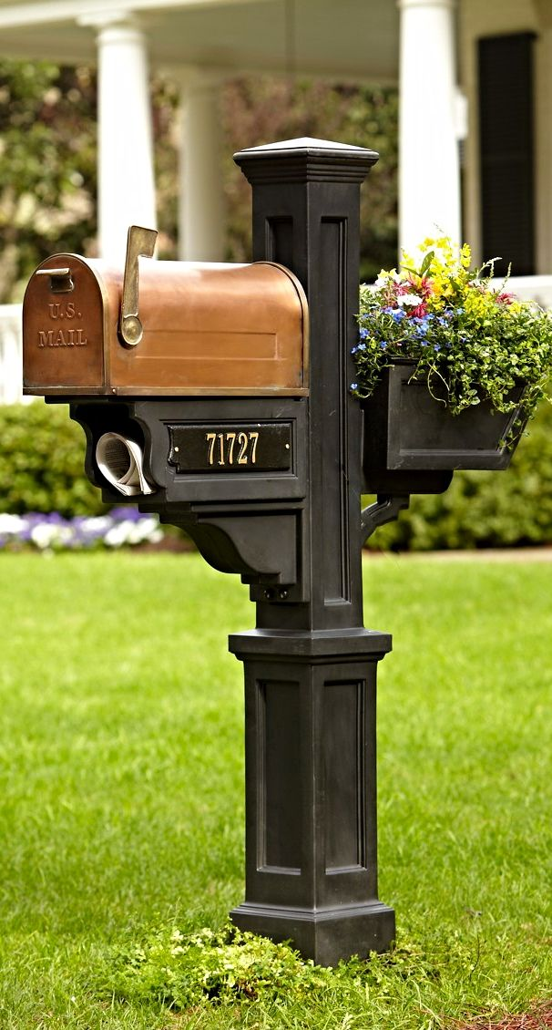 """Even getting bills becomes a beautiful experience. Distinctive copper and all-weather materials make your home the new address for the best mailbox on the block."" — Grandin Road Editors"