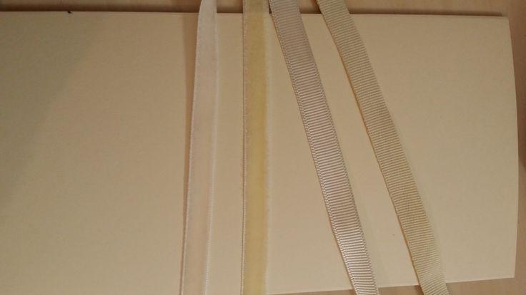 Mostrar panglica pentru invitatii ivoire (ton pe ton) - panglica satin, panglica rips (gross grain)