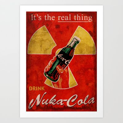 Nuka Cola poster Art Print by Skeleton Jack - $17.68