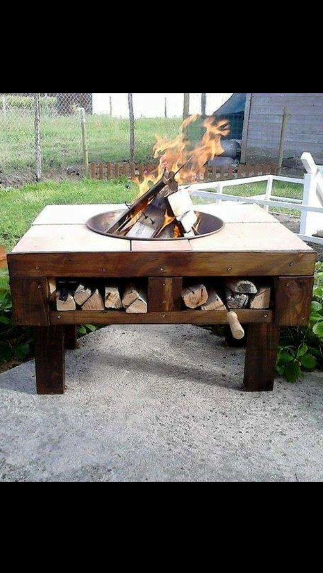 Best 25 pallet fire pit ideas on pinterest pallet ideas for Pallet fire pit