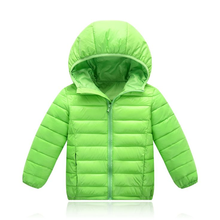 Nice Girls Winter Coat Fashion Winter Jackets Boys Parkas for Girl Hooded Zipper Solid Down Jacket for Girl 7 Colors Unisex 100-155cm - $ - Buy it Now!