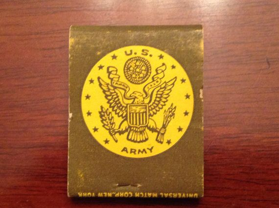 Vintage  WWII Army Supply Matches  1940's by PompeyCollectibles, $4.50