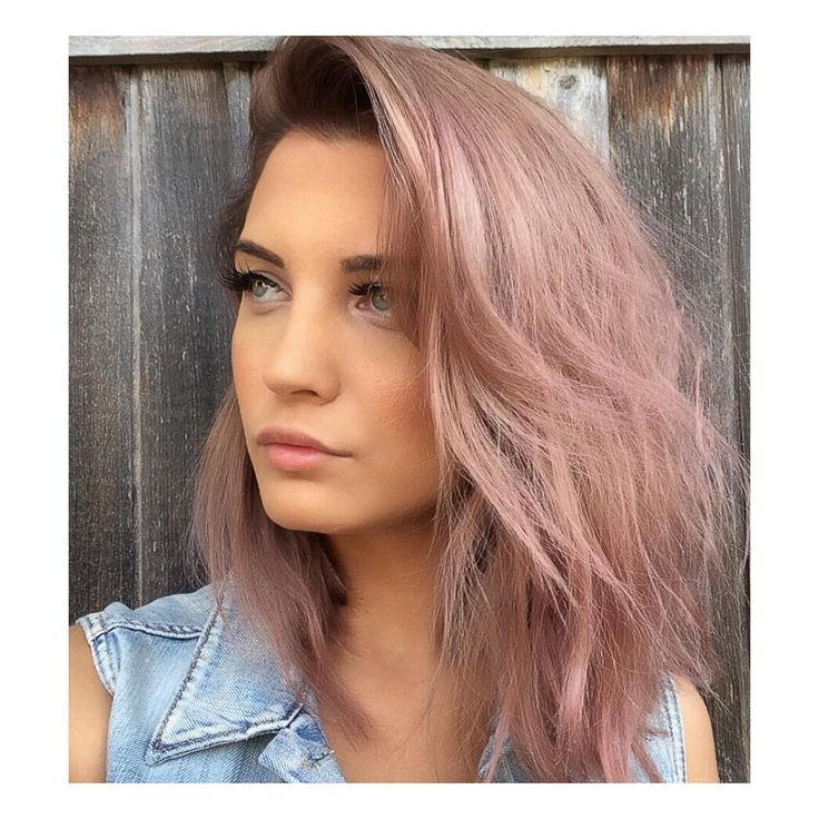 Rose gold with dark roots