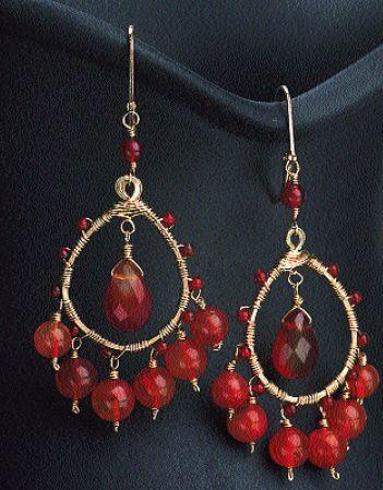 Red earrings...