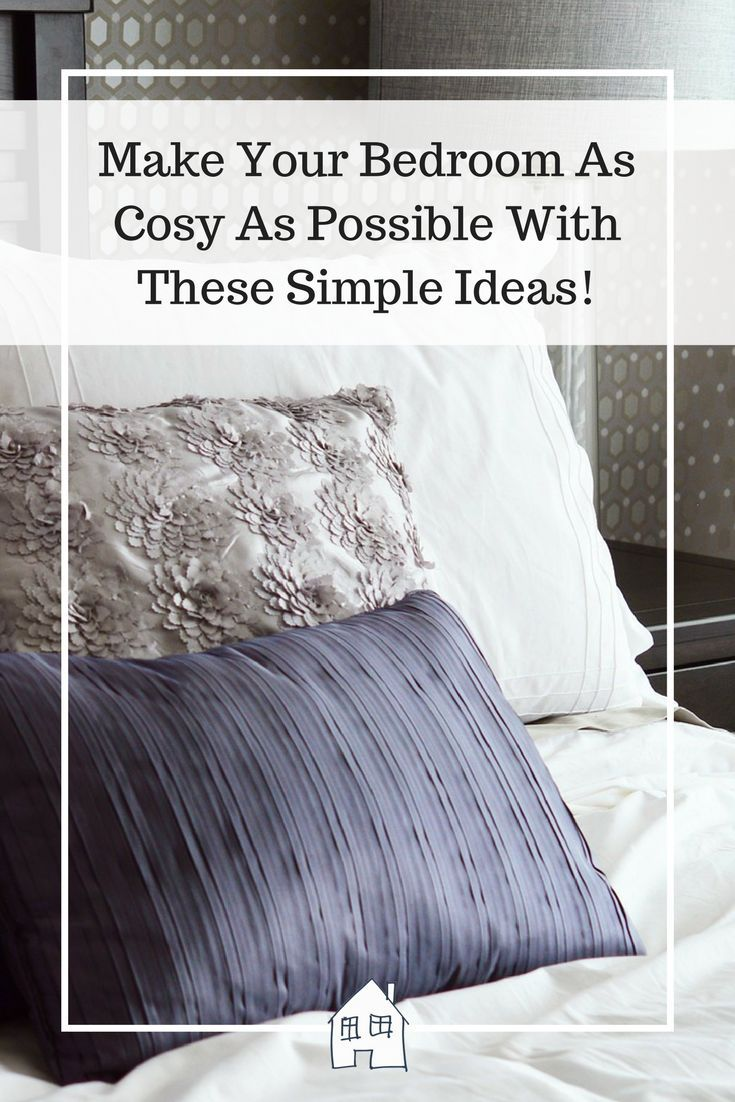 Make Your Bedroom As Cosy As Possible With These Simple Ideas! Cosy bedroom, snuggly bedroom, warm bedroom, main bedroom and cosy main bedroom