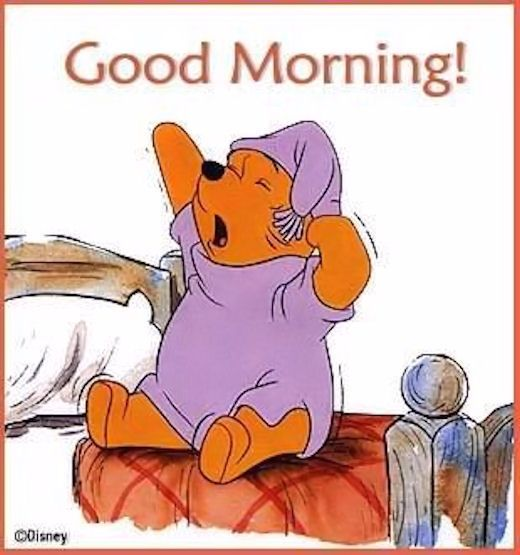 Good Morning Winnie The Pooh