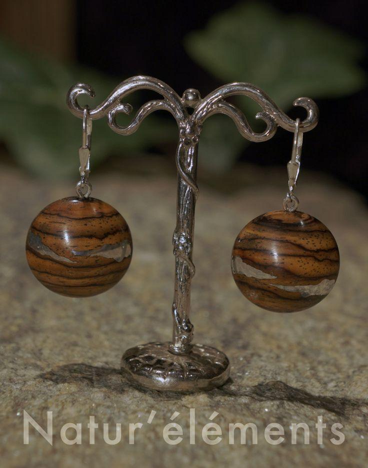 boucles d'oreilles - bijoux natur'éléments bijoux en bois tournés en savoie