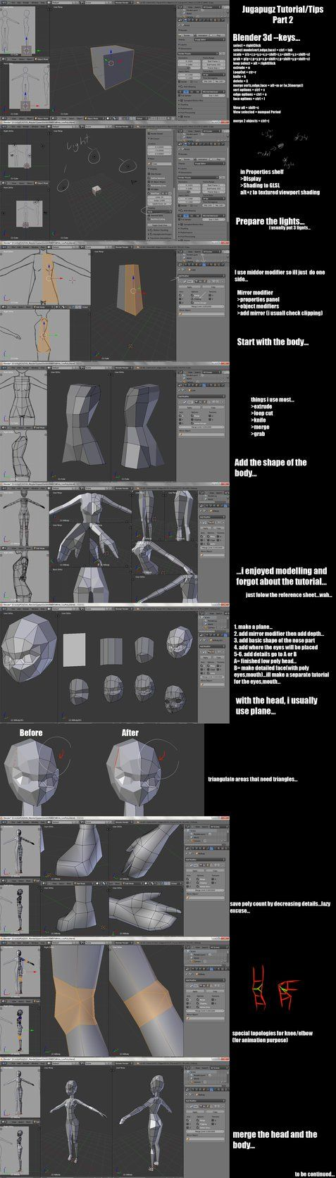 Jugapugz 3d lowpoly character Tutorial/Tip Part 2 by jugapugz on DeviantArt