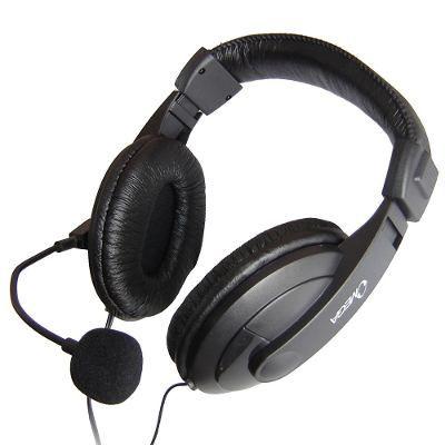 Audífonos Con Micrófono Omega Diadema En Cuero Auriculares - $ 17.500 en Mercado Libre