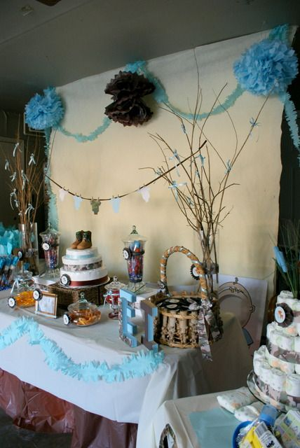 "Cute camo/hunting themed baby shower decor  Photo 5 of 16: Eli - The Little Hunter / Baby Shower/Sip & See ""Woodsy Baby Shower"" 