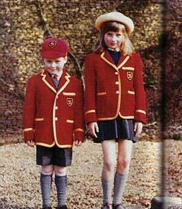 Diana and her brother Charles