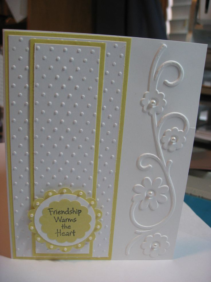 a great use of the single edge embossing folders