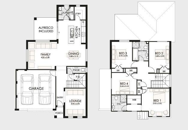 Dise o y planos de casas de dos pisos con ideas para for Diseno pisos