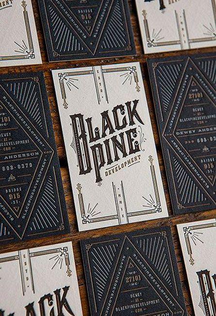 Unique Business Card, Black Pine @vickyyeh #BusinessCards #Design (http://www.pinterest.com/aldenchong/)