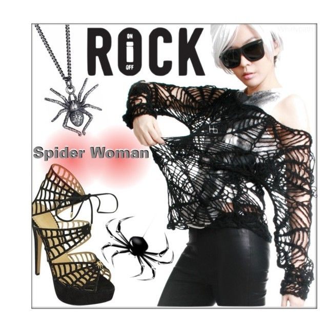 Spider Woman by whirlypath on Polyvore featuring Charlotte Olympia