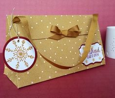 Stampin' Up! Demonstrator stampwithpeg – Presents & Pinecones : Christmas Gift Bag This is my very last Christmas 2016 project, I cant believe its Christmas Day tomorrow already, happy Christma…