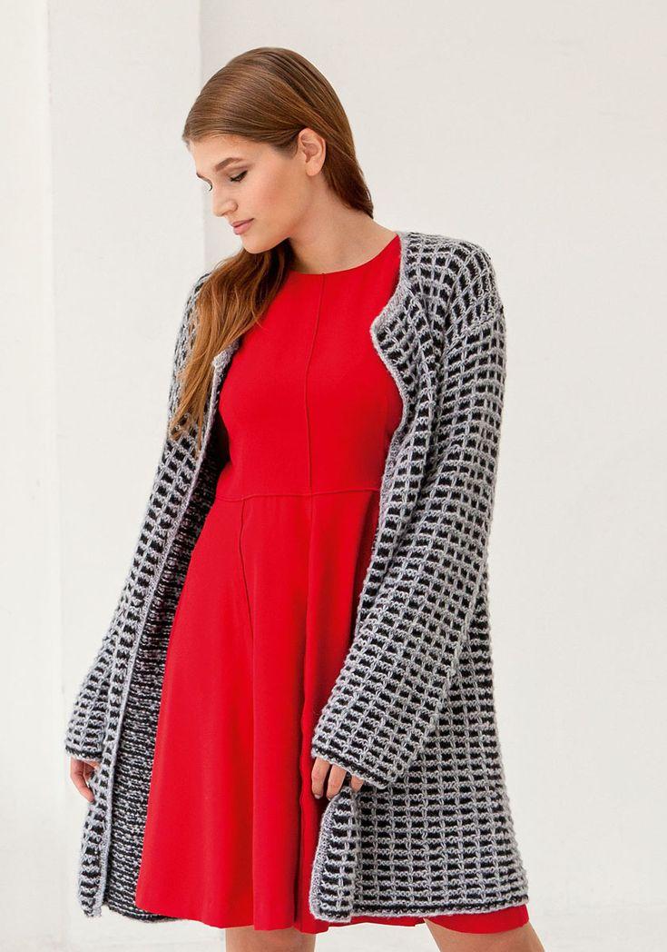 Lana Grossa JACKE Alta Moda Alpaca/Alpaca 400 - FILATI Size Plus No. 2  - Modell 12 | FILATI.cc WebShop