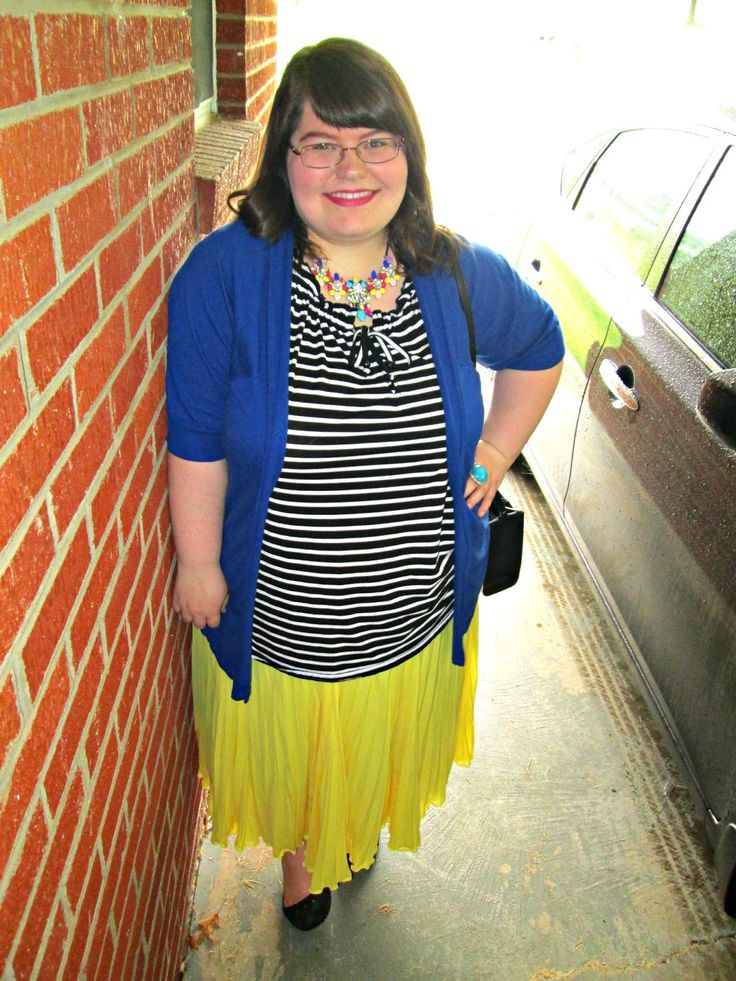 Unique Geek: Plus Size OOTD: Make A Statement #plussize #plussizefashionblogger #plussizefashion #statementnecklace #yellowskirt #plussizeootd