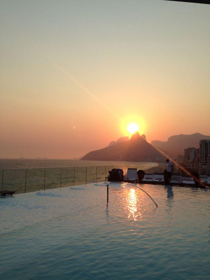 Lindo por do sol no Hotel Fasano. Rio de Janeiro! ❤️