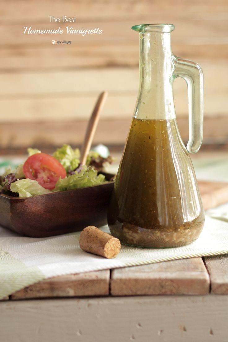 The Best Homemade Vinaigrette Salad Dressing | Live Simply