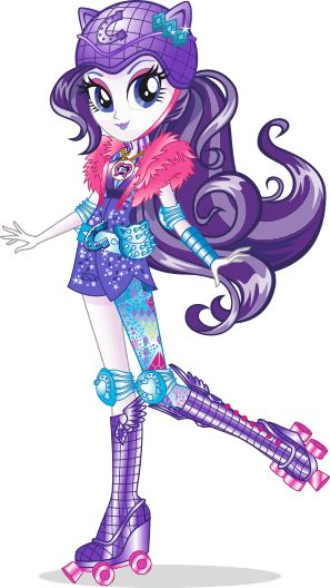MLP Equestria Girls Friendship Games Rarity Rollerskater Stock Image