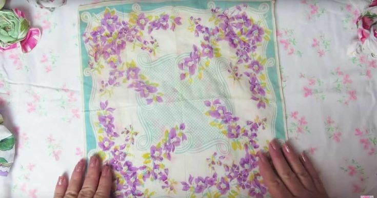 Crafter shows off a couple of simple, easy projects that utilize vintage-style hankies.