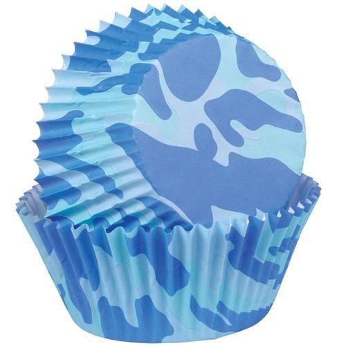 Blue Camo Cupcake Liners
