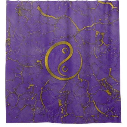 Golden Embossed OM symbol  on purple Shower Curtain - shower curtains home decor custom idea personalize bathroom