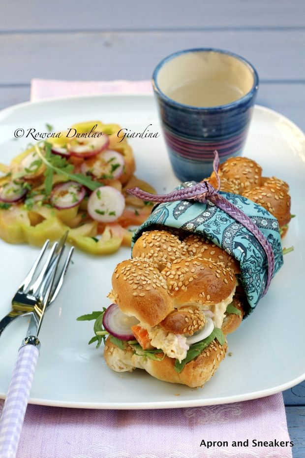 Apron and Sneakers - Cooking & Traveling in Italy and Beyond: Panino With Chicken Mayo, Onions & Arugula