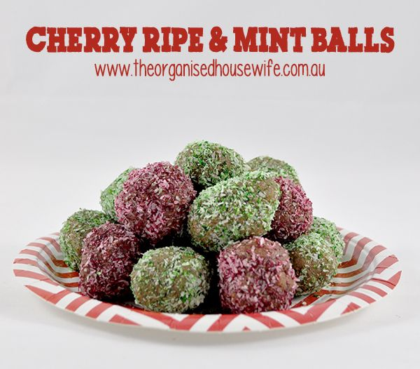 Cherry Ripe and Mint Balls