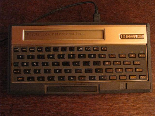 #HP-75C by #retrocomputers, via Flickr