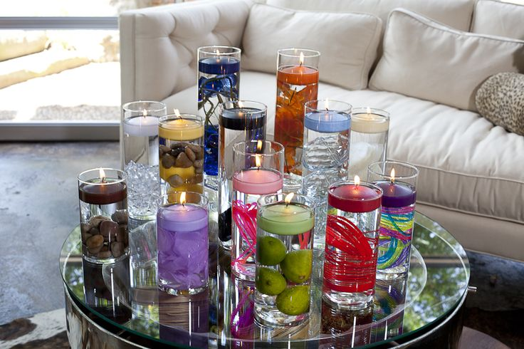 """FLOATING CANDLES, CYLINDER VASES, THE 3 """"S's"""""""