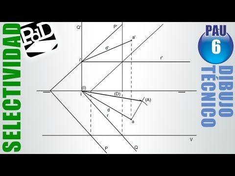 ▶ PAU #006 Diédrico: Intersección planos (Dibujo Técnico Selectividad - Andalucia/2009) - YouTube