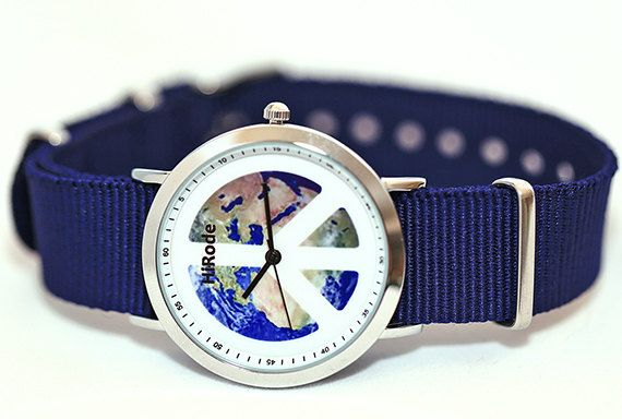 Peace sign watch - Earth watch