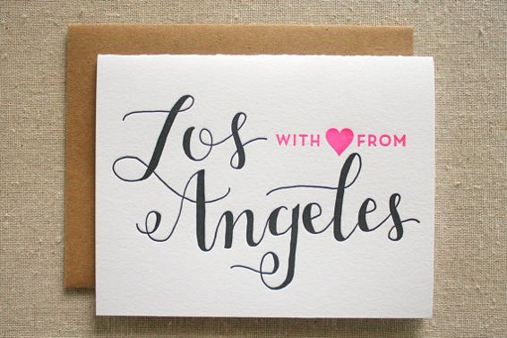 Cute letterpress cards for all your favorite cities...