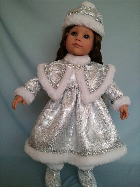 Костюм Снегурочки для кукол Gotz 50см или аналогичного размера. / Одежда для кукол / Шопик. Продать купить куклу / Бэйбики. Куклы фото. Одежда для кукол