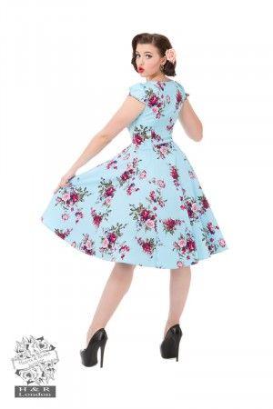 Royal Ballet tea dress- lyseblå kjole med blomster