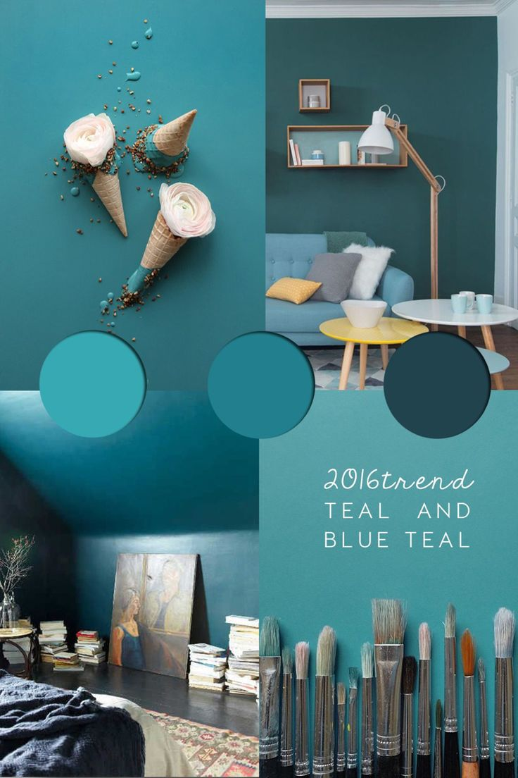 Teal Colour Trend 2016   Teal Paint Ideas, Inspirations And Palettes    ITALIANBARK Interiordesign Blog
