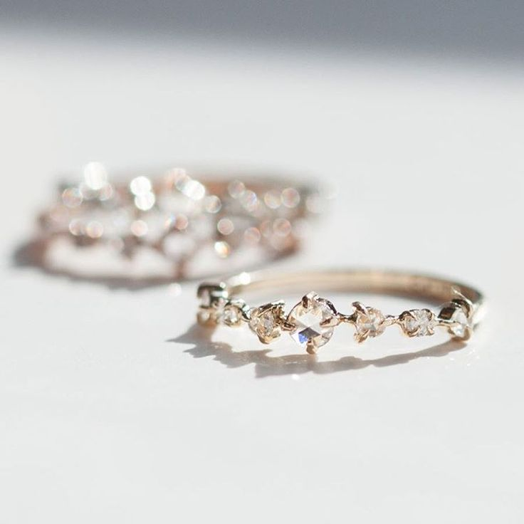 "The Snow Queen Ring, in white, rose, and yellow gold, only at Catbird and www.catbirdnyc.com."" Wow, beautiful. Engagement ring or wedding band. Rose gold?"