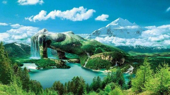 fond d'écran paysage hd | Paysage fantastique wallpaper hd . Fond d'écran hd paysage et ...