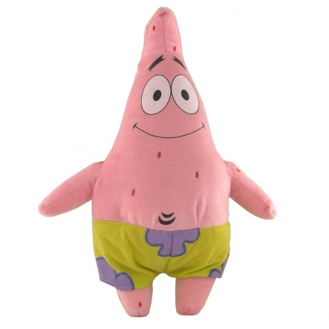 SpongeBob - Hvězdice Patrik, plyšová figurka 75 cm. Plyšový Patrik z dětského seriálu o mořské houbě Sponge Bobovi. Celá figurka je plyšová a má látkové kalhoty.
