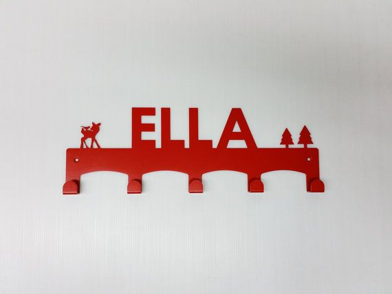 Scandinavian Kids Custom Child Coat Rack Personalize