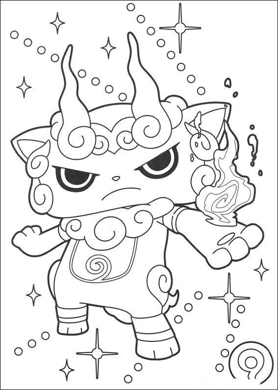 Watch Yo Kai Coloring Pages Printable Bilder Zum Ausmalen